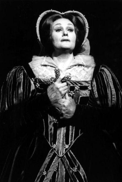 Joan Sutherland, en el Covent Garden londinense, en 1997.