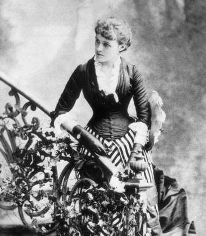 Edith Wharton, en Nueva York en 1884.