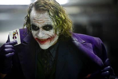 Heath Ledger como el Joker en El caballero oscuro (Christopher Nolan, 2008).