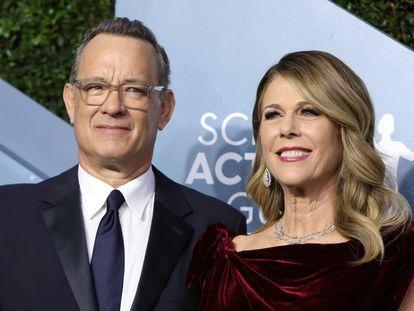 Tom Hanks y Rita Wilson, en enero de 2020 en Los Ángeles, California.