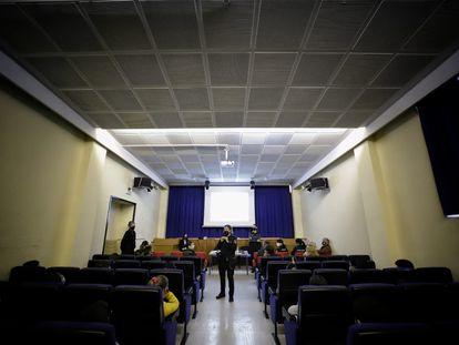 La charla que han recibido los alumnos de un colegio público de Tetuán sobre redes sociales y videojuegos.