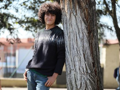 Mario G. Obrero, ganador del premio de ganador del Premio Loewe de Poesía a la Creación Joven 2020, este miércoles en Getafe.
