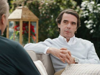 José María Aznar en el programa de Bertín Osborne.