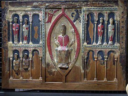 El frontal de Sant Hilari de Buira, una de las obras reclamadas por el obispado de Barbastro-Monzón que está en el museo de Lleida.