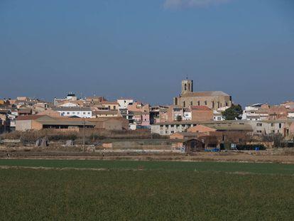Vista del pueblo de Linyola, en Lleida.