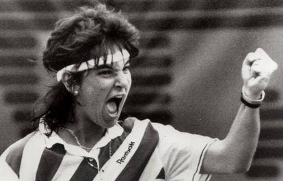 Arantxa Sánchez Vicario, en Roland Garros de 1989.