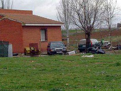 Casa  a las afueras de Fresno de Torote donde estuvo secuestrado durante 13 días un ciudadano marroquí.
