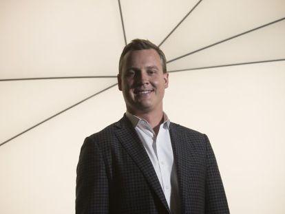 Rich Riley, consejero delegado de Shazam, durante el MWC.