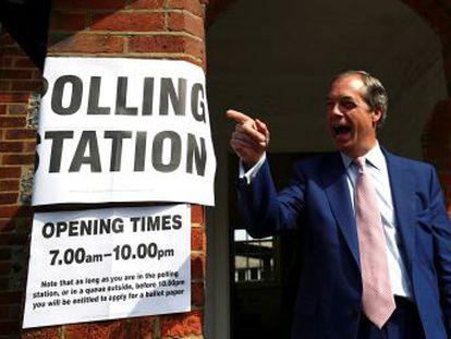 El Partido de Farage se sitúa en primer lugar con casi un tercio de los apoyos, y los laboristas se ven castigados con la tercera posición