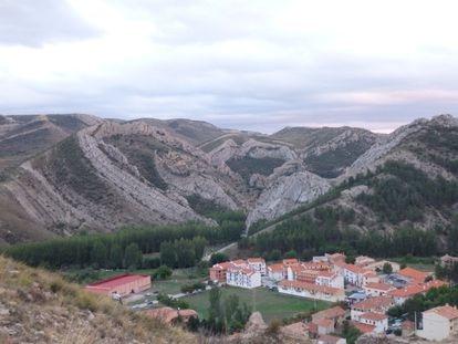 Pliegues modelados durante el Cretácico inferior en La Olla.