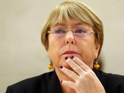 La expresidenta chilena Michelle Bachelet.