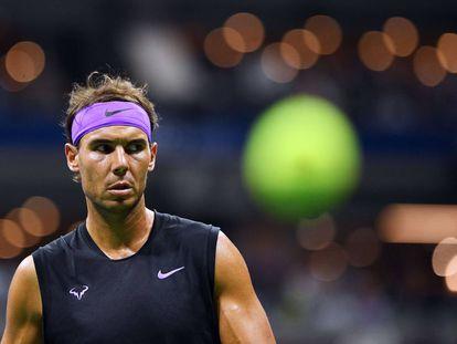 Nadal, durante el partido de semifinales del US Open de 2019 contra Berrettini.