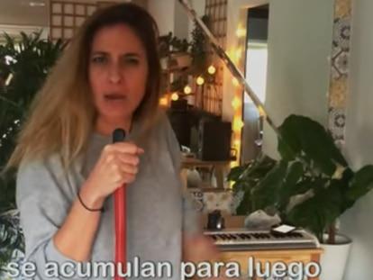 Captura de pantalla del vídeo de 'Quédate en tu casa',
