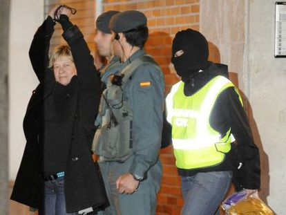 La abogada Arantza Zulueta es detenida el pasado 9 de enero.