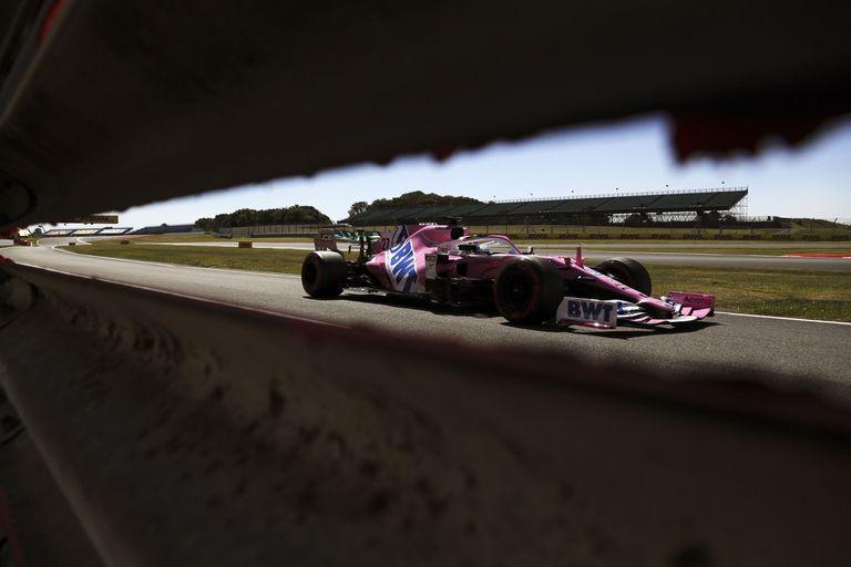 Nico Hulkenberg, en los entrenamientos libres en Silverstone.