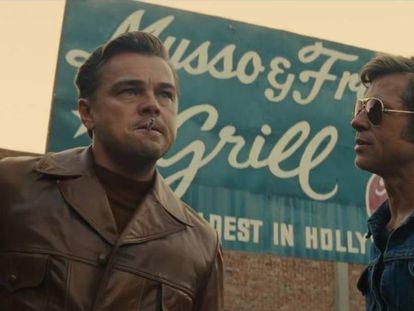 Leonardo Di Caprio y Brad Pitt en una escena de 'Érase una vez en... Hollywood'.