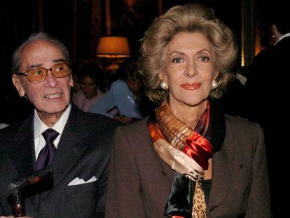 Pitita Ridruejo junto a su marido José Manuel Stilianopulos, en una  imagen tomada en Madrid en 2004.