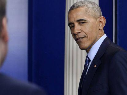 Obama, el pasado viernes en la Casa Blanca