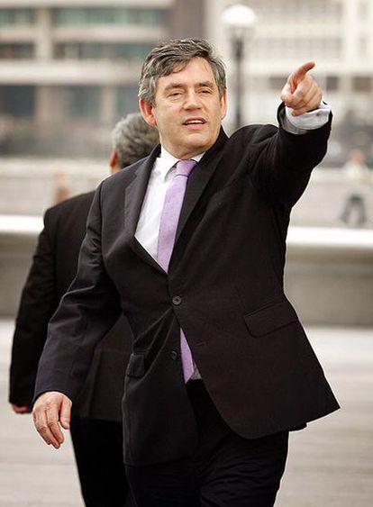 El ministro del Tesoro británico y futuro primer ministro, Gordon Brown.