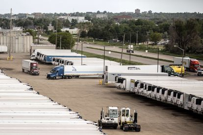 Inactivity at a JBS processing plant in Greeley, Colorado, this Tuesday.