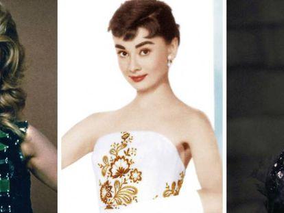 Jane Fonda en 'Barbarella', Audrey Hepburn en 'Sabrina' y Natalie Portman en 'Cisne negro'.