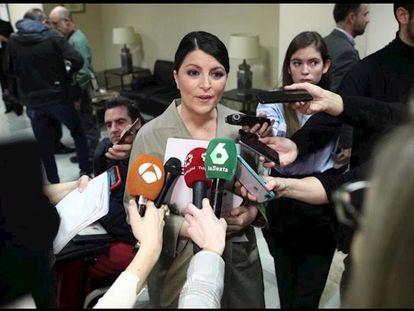 La secretaria general del grupo parlamentario Vox, Macarena Olona, en una imagen de archivo.