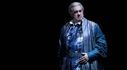 Placido Domingo durante la representación de 'Simon Boccanegra' de  Verdi, en el Staatsoper de Berlín.