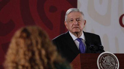 López Obrador, en la conferencia de prensa de este miércoles.