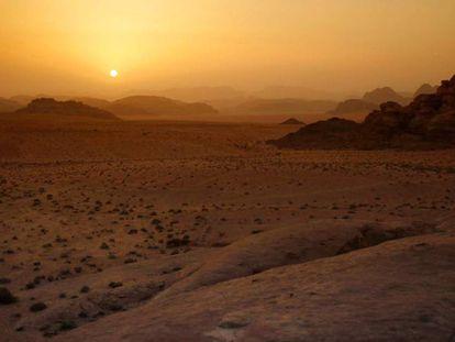Imagen del desierto de Wadi Rum, en Jordania.