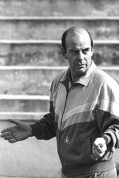 Chus Pereda, durante un entrenamiento de la selección juvenil.