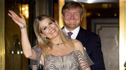 Máxima y Guillermo de Holanda, en el concierto por el 50º cumpleaños de la reina, el 12 de mayo en La Haya.