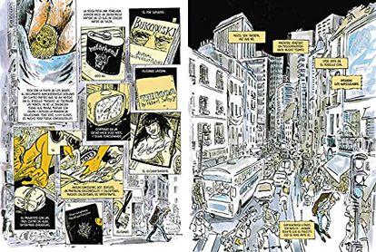 Páginas del cómic 'Vernon Subutex', que firman Luz y Virginie Despentes a partir de la trilogía literaria de la segunda.