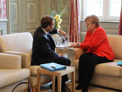 Macro y Merkel, el pasado martes en Berlín.
