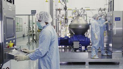 Laboratorios de la compañía Regeneron, que ha desarrollado el cóctel de los anticuerpos monoclonales casirivimab e indevimab para tratar a pacientes con covid.