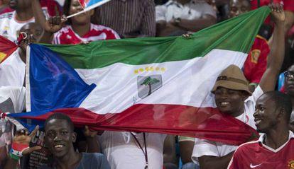 Los aficionados de Guinea Ecuatorial.