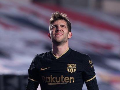 Sergi Roberto, durante el partido de Copa del Rey contra el Granada.