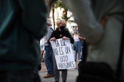 Una de las múltiples manifestaciones en protesta por la nueva tarifa eléctrica el pasado 5 de junio.