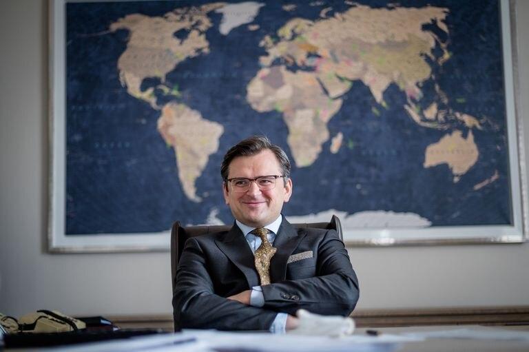 Dmytro Kuleba en su despacho en Kiev, en una imagen cedida por su gabinete.