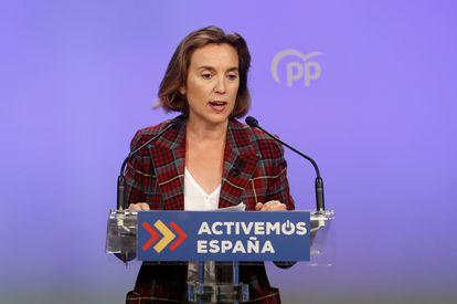 Cuca Gamarra, actual vicesecretaria de Política Sectorial del PP y próxima portavoz parlamentaria.