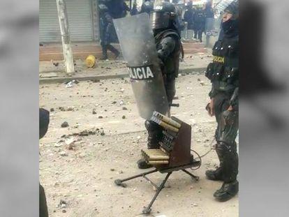 Venom, el arma de los antidisturbios en Colombia.