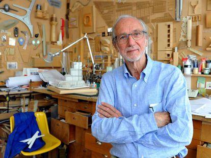 Renzo Piano, en su estudio de París.