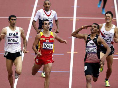 El español Kevin Lópezse clasificó para las semifinales de 800 metros