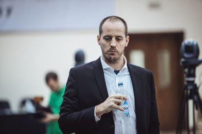 Paco Vallejo, durante el torneo del Gran Premio de la FIDE de Sharjah (Emiratos Árabes Unidos), en febrero de 2017.