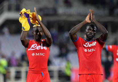 Victor Osimhen y Kalidou Koulibaly.