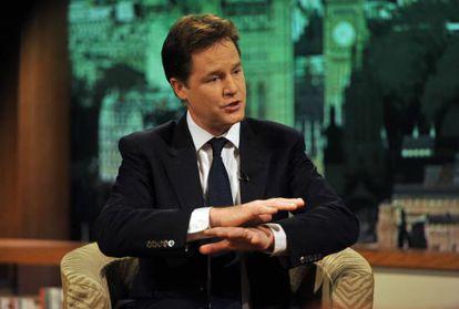 Clegg durante la entrevista en BBC.