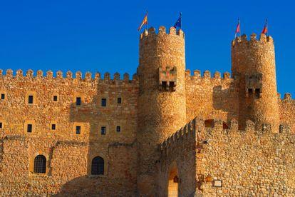 Vista exterior del castillo de los Obispos de Sigüenza.
