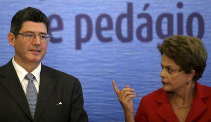 El ministro de Economía de Brasil, Joaquim Levy, y la presidenta, Dilma Rousseff, el pasado mayo en Brasilia.
