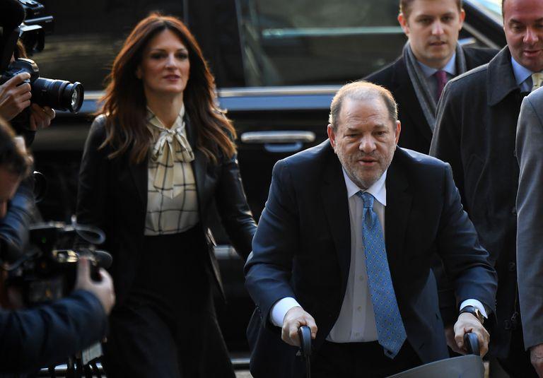 Harvey Weinstein a su llegada a la corte de Nueva York en marzo.
