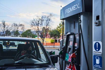Una gasolinera de Pemex, en San Luis Potosí, en enero.