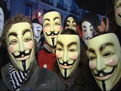 """El colectivo """"Anonymous"""" protesta contra la """"Ley Sinde"""""""